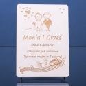Ślubna grawerowana kartka z życzeniami
