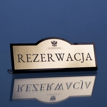 Tabliczka grawerowana rezerwacja bk