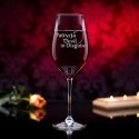 Devil in Disguise - grawerowany kieliszek do wina