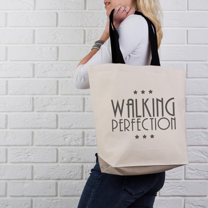 Walking perfection - torba bawełniana na zakupy