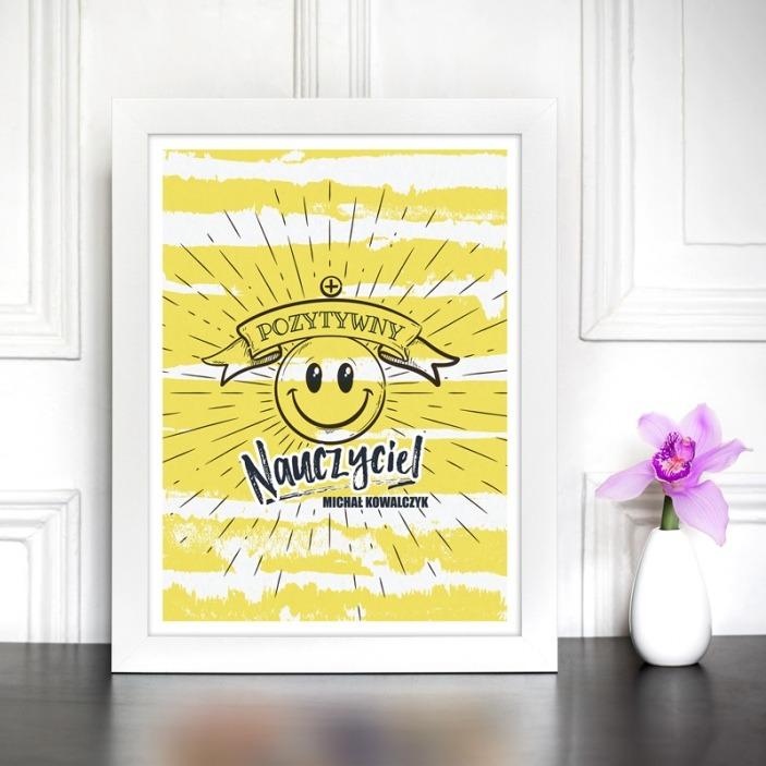 Pozytywny nauczyciel - plakat w ramie