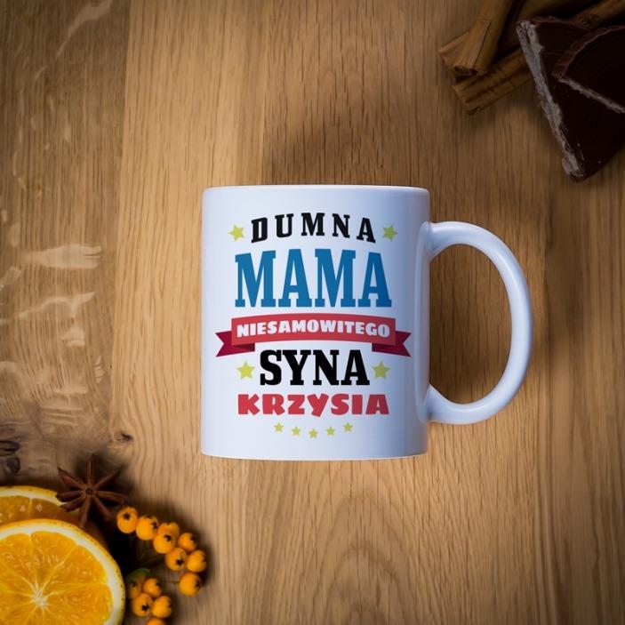 Dumna mama syna - kubek dla mamy