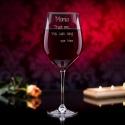Trust me... - grawerowany kieliszek do wina