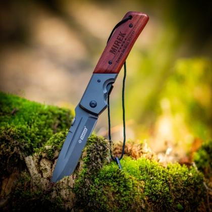 Grawerowany nóż składany - nóż z imieniem i dedykacją