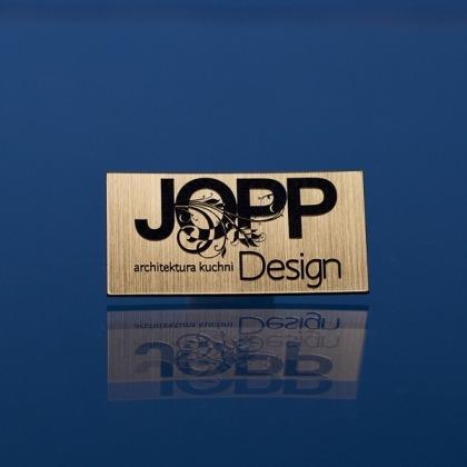 Tabliczki z logo firmy 6x3cm
